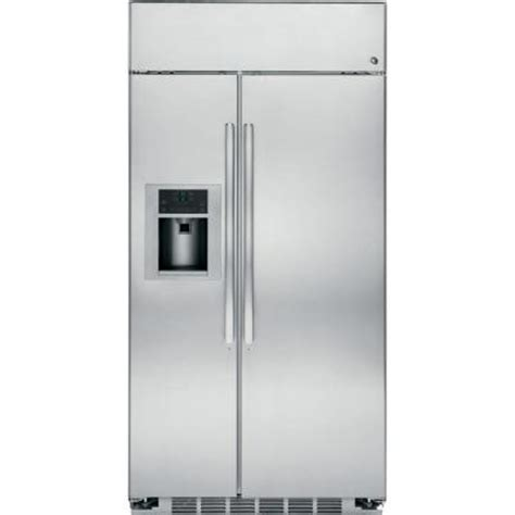 48 cabinet depth refrigerator ge profile 48 in w 28 6 cu ft side by side refrigerator