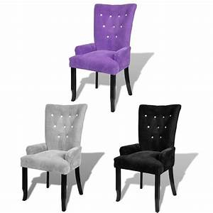 Luxury, High, Back, Dining, Chair, Tufted, Velvet, Accent, Armchair, Purple, Black, Silver