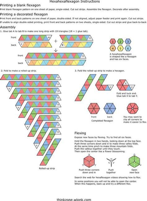 hexahexaflexagon instructions