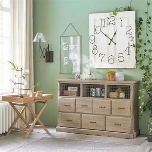 Cabinet Maison Du Monde : cabinet 7 tiroirs valmont en pin recycl cabinet maisons du monde ventes pas ~ Teatrodelosmanantiales.com Idées de Décoration