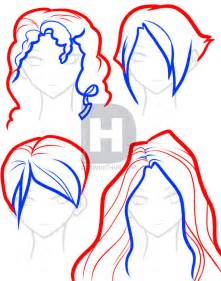 How to Draw Hair Step by Step Anime Girl