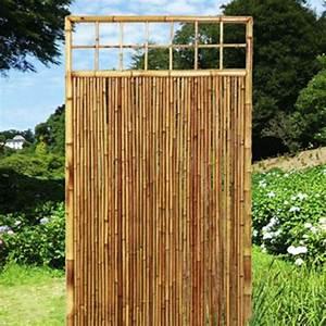 Sichtschutzwand Bambus Sichtschutzelement ZEN Zierleiste