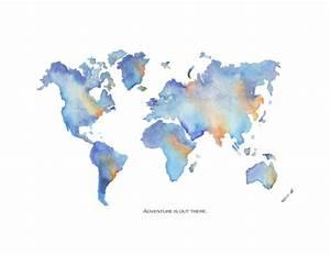 watercolour world map | Tumblr