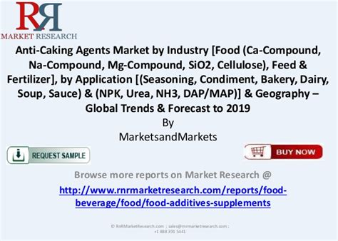 anti caking agents market global trends forecast