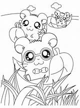 Coloring Hamtaro Pages Hamster Anime Hamsters Para Printable Chibi Kawaii Pintar Imprimir Desenhos Leaves Slide Play Colorir Cartoon Popular Salvo sketch template