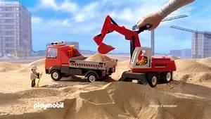 Video De Camion De Chantier : playmobil le camion de chantier et le tractopelle fran ais youtube ~ Medecine-chirurgie-esthetiques.com Avis de Voitures
