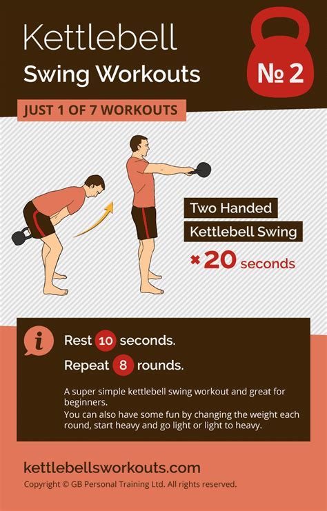 kettlebell swing workouts swings workout double minute handed every reps secs repeat minutes under rounds rest