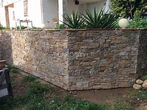 habiller un mur en pierre atlubcom With habiller un mur exterieur en bois 17 carrelage salle de bain pierre naturelle exterieur