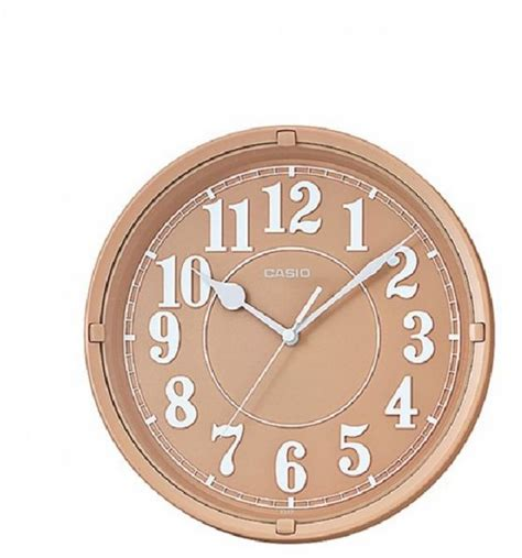 souq casio analog wall clock light brown iq62 5df uae