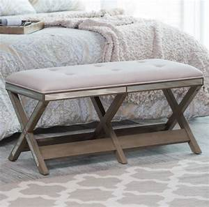 Upholstered bench entryway furniture seat hallway end of for End of bed sofa bench