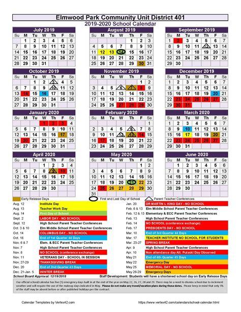 school year epcusd calendars