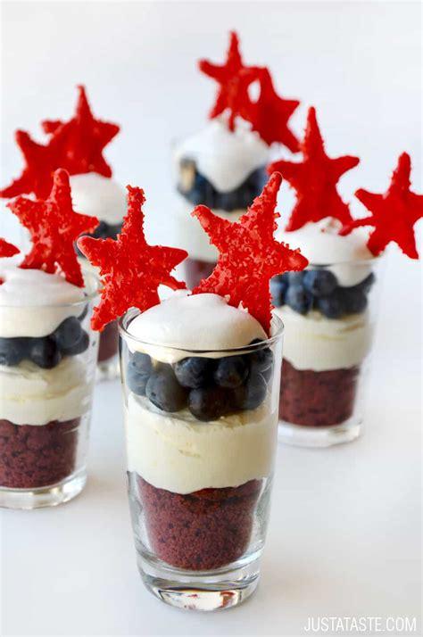 red white  blue  bake cheesecake parfaits   taste