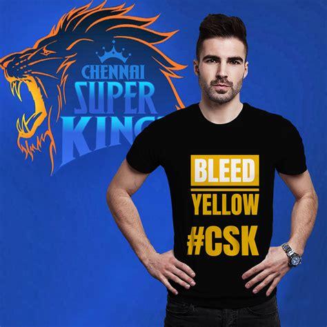 csk bleed yellow  shirts  shirt loot customized
