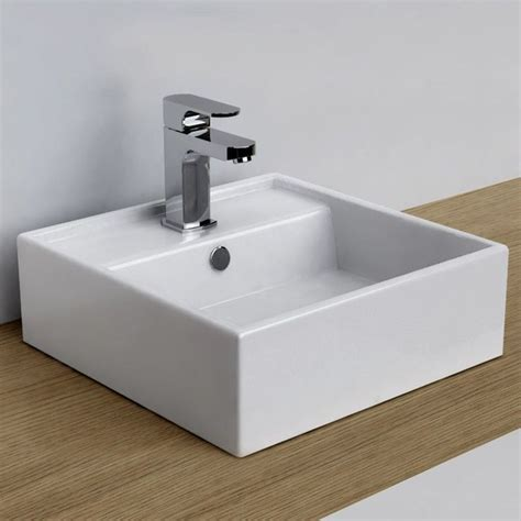 vasque a poser carree vasque 224 poser carr 233 e 38x38 cm plage de robinetterie c 233 ramique design