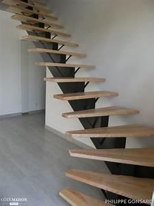 escalier limon central, Philippe Gonsard Côté Maison
