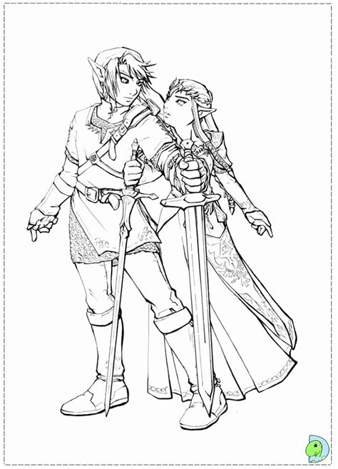 link zelda coloring pages coloring home