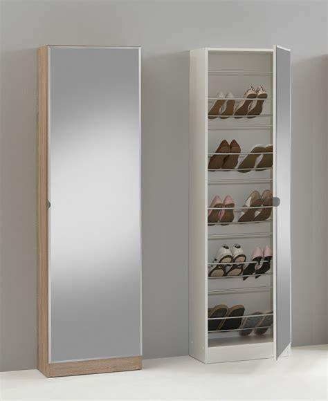 Oak Shoe Cabinet by Quot Penny 88 Quot Mirrored Shoe Storage Cabinet Cupboard Shoe