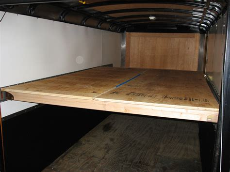 Happijac Bed Lift by Enclosed Trailer Build South Bay Riders