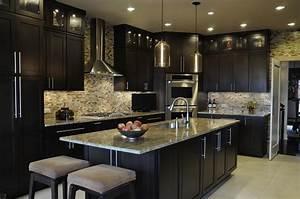 dazzling dark kitchen design ideas with l shape black With small dark kitchen design ideas