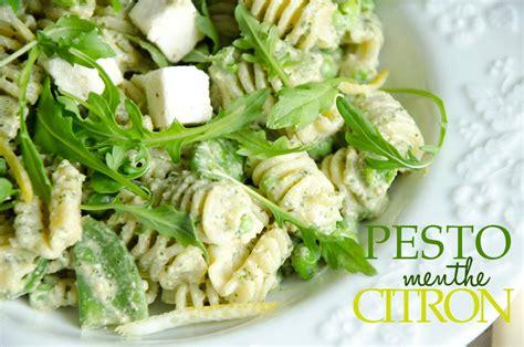 salade de pates italienne pesto salade de p 226 tes pesto menthe citron