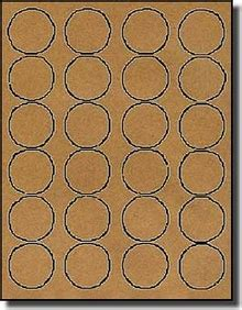 avery 5293 template 2 400 brown kraft labels 1 5 8 diameter 100 sheets use avery 174 5193 5293 template