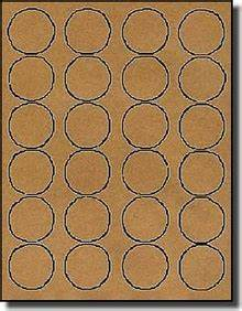 2400 brown kraft labels 1 5 8 diameter round 100 With avery 5293 template