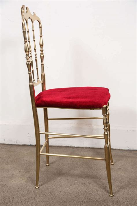 polished brass chiavari chairs with velvet italy for