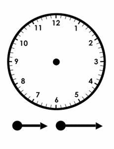 printable clock to learn to tell time freeology With 24 second shot clock mk 2