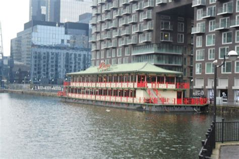 Floating Boat Chinese Restaurant Canary Wharf by Lotus Chinese Floating London Docklands Canary Wharf
