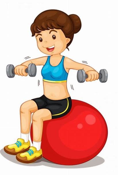 Clipart Healthy Physical Clip Fitness Imatges Enfant