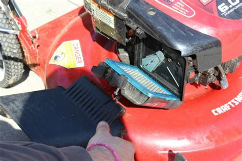 Push Mower Fuel Filter by Fixing A Lawn Mower That Won T Start Thriftyfun