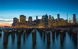 The, Port, Manhattan, New, York, City, Sunset, Dusk, Landscape, 4k, Ultra, Hd, Desktop, Wallpapers, For