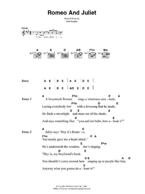 intro f#m c# f#m c#. Romeo And Juliet   Sheet Music Direct