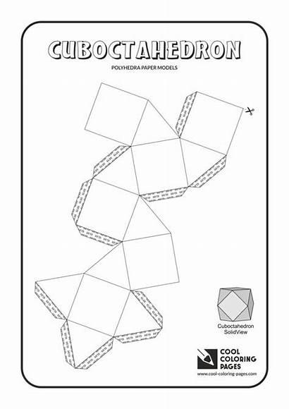 Paper Coloring Pages Cool Models Cuboctahedron Solids