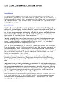 real estate administrative assistant description for resume real estate administrative assistant resume
