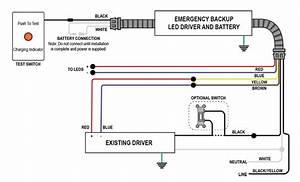 Diodedrive U00ae Emergency Back-up Led Driver - 20w