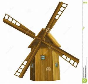 Moulin A Vent Enfant : moulin vent en bois de vieille bande dessin e illustration pour des enfants illustration ~ Melissatoandfro.com Idées de Décoration