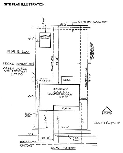 Building Site Plan Template by Site Plan