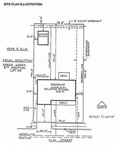 site plan With building site plan template