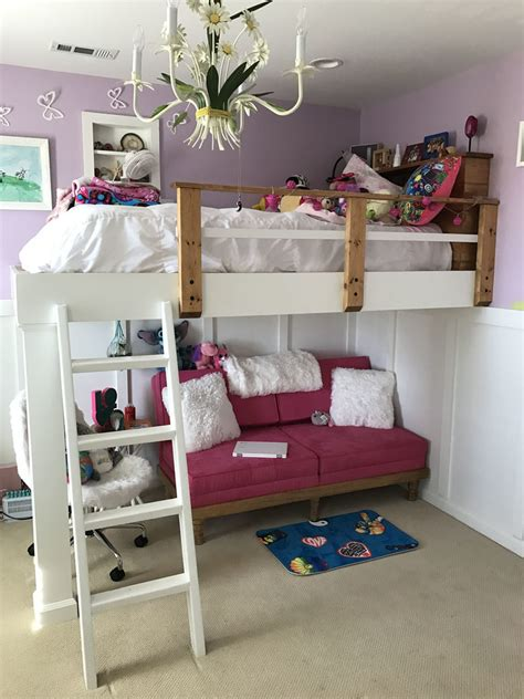 Loft Bed by White Loft Bed Diy Projects