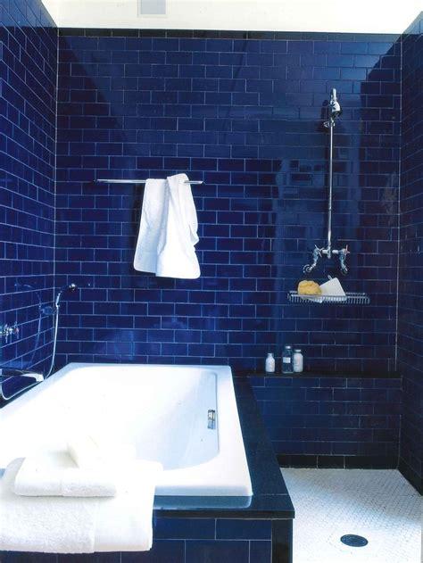 blue subway tile cornflower blue lovely bathroom design