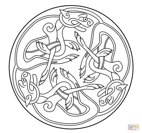 Celtic Designs Coloring Pages Bestofcoloringcom