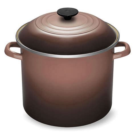 le creuset enameled steel stock pot  quart truffle cutlery