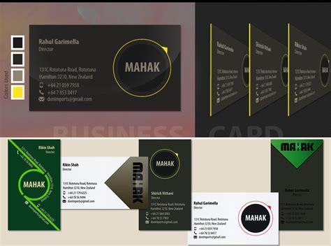 business cards project mahak  zealand brand