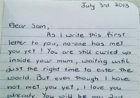 write  love letter   daughter