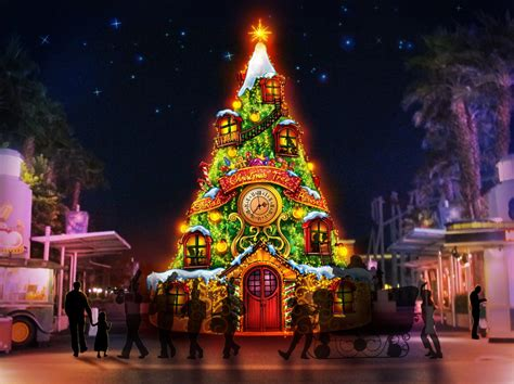 universal studios decorate  christmas
