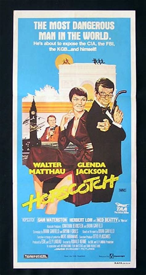 HOPSCOTCH Original Daybill Movie poster Glenda Jackson ...