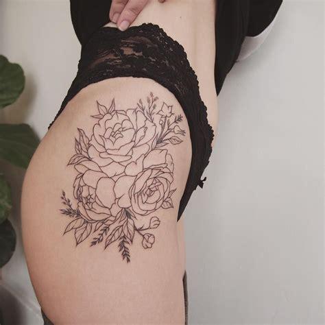 peonies  thigh tattoo people toronto jess chen