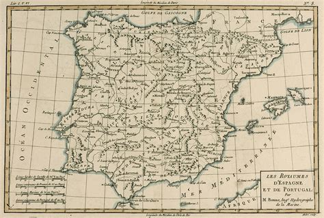 antique map  spain drawing  guillaume raynal