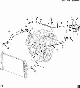 Chevrolet Sonic Cap  Engine Coolant Recovery  Radiator